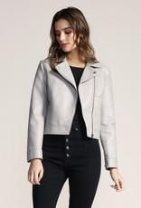 Jack Let's Ride Leather Jacket Grey