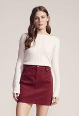 Cut The Cord Skirt Wine