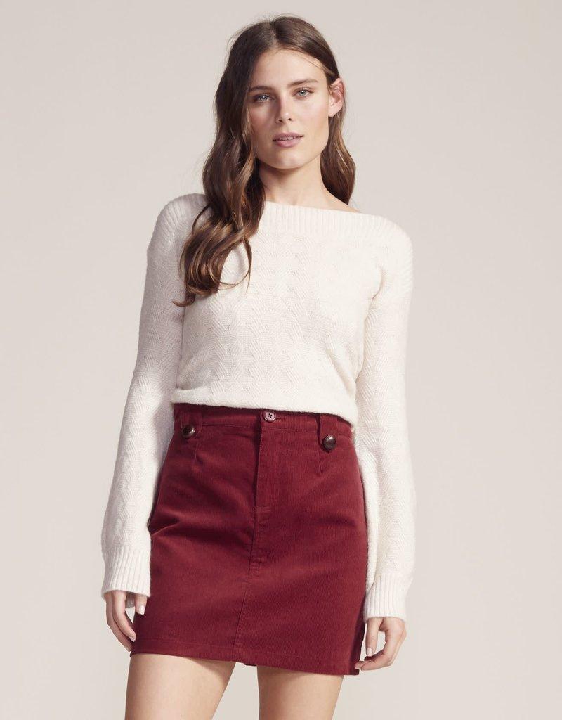 BB Dakota Cut The Cord Skirt Wine
