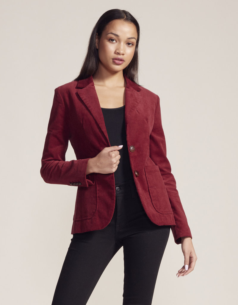 BB Dakota Cord Willing Blazer Wine