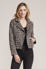 Cupcakes and Cashmere Margaux Leopard Jacket Grey