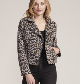 Margaux Leopard Jacket Grey