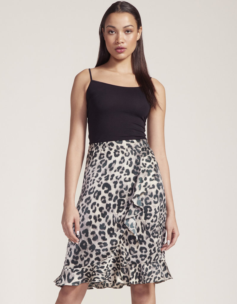 In The Wild Leopard Skirt Green