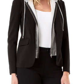 Boyfriend Blazer w/ Removable Hood Black
