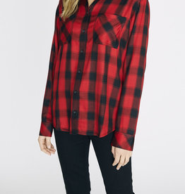 Sanctuary New Generation Boyfriend Shirt Red Plaid