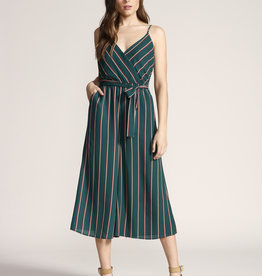 Cross The Line Jumpsuit Pine Green