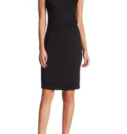 Matty M Side Twist Midi Dress Black
