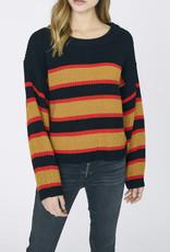 Ezra Striped Sweater Black Amber