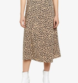Modern Spots Midi Skirt Brown