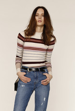 Lennon Stripe Sweater Ivory