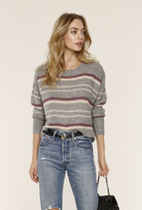 Maya Stripe Sweater Heather Grey