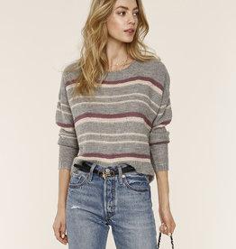 Maya Stripe Sweater Heather Grey