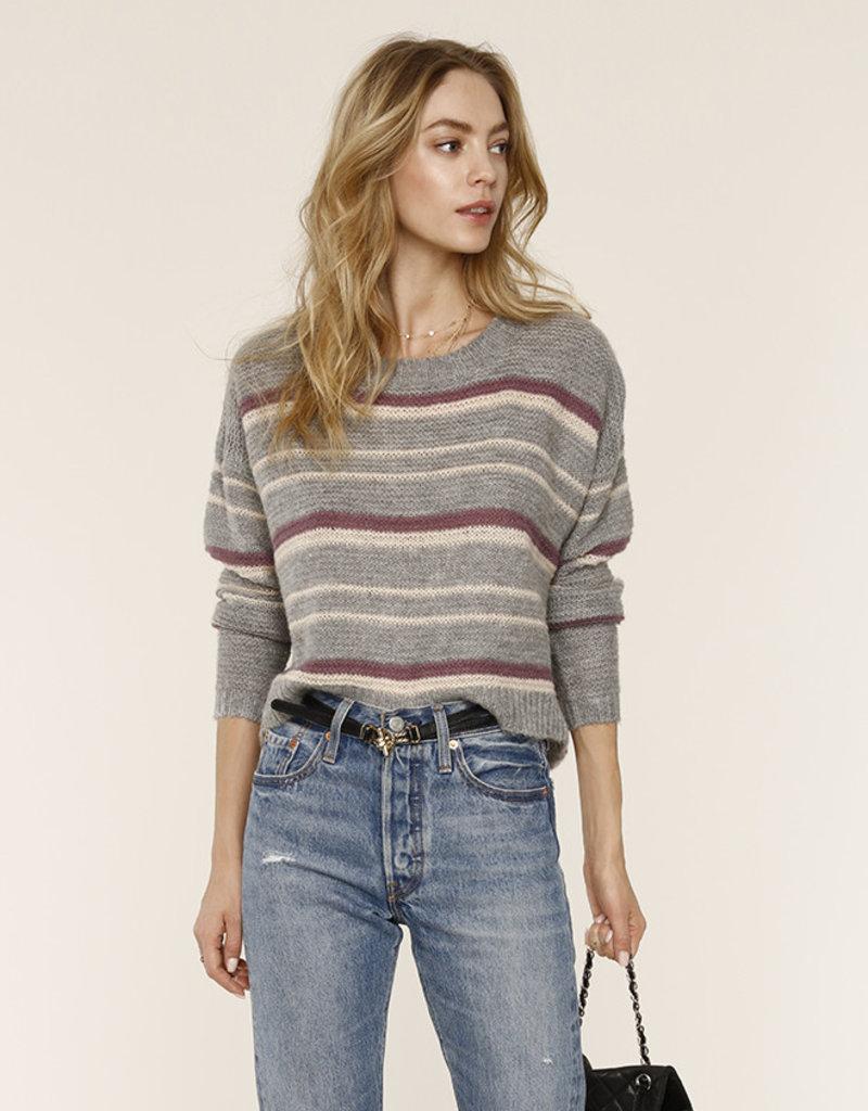 Heartloom Maya Stripe Sweater Heather Grey