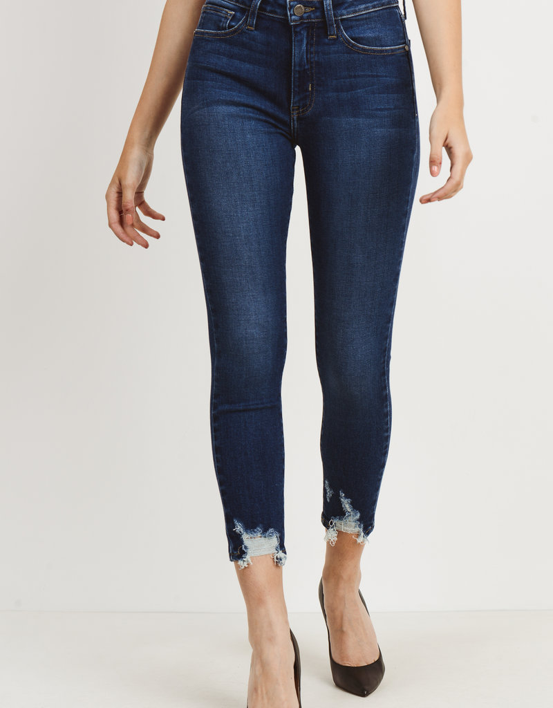 Skinny w/ Hem Bite Dark Denim