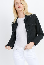 Just Black Denim Distressed Denim Jacket Black