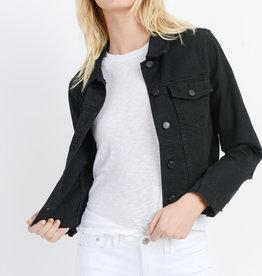 Just Black Denim Distressed Denim Jacket Black
