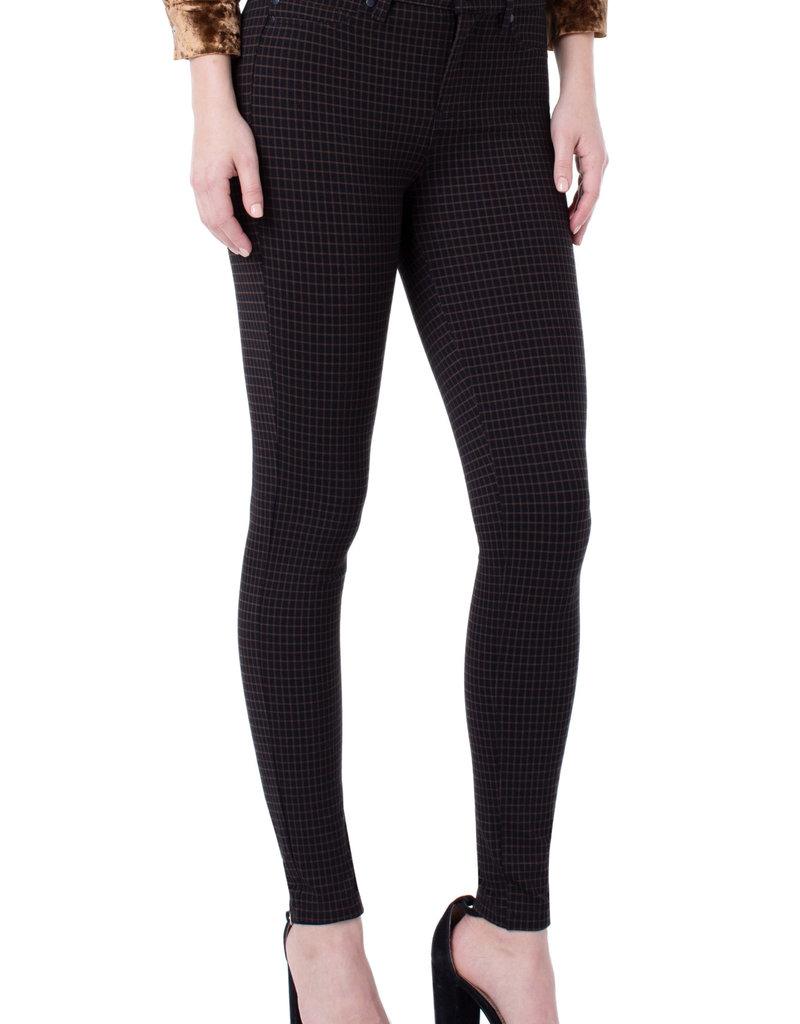 Liverpool Madonna Legging Grid Brown/Black