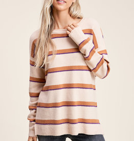 Staccato Stripe Sweater Beige