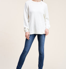 Staccato Puff Sleeve Sweater Ivory