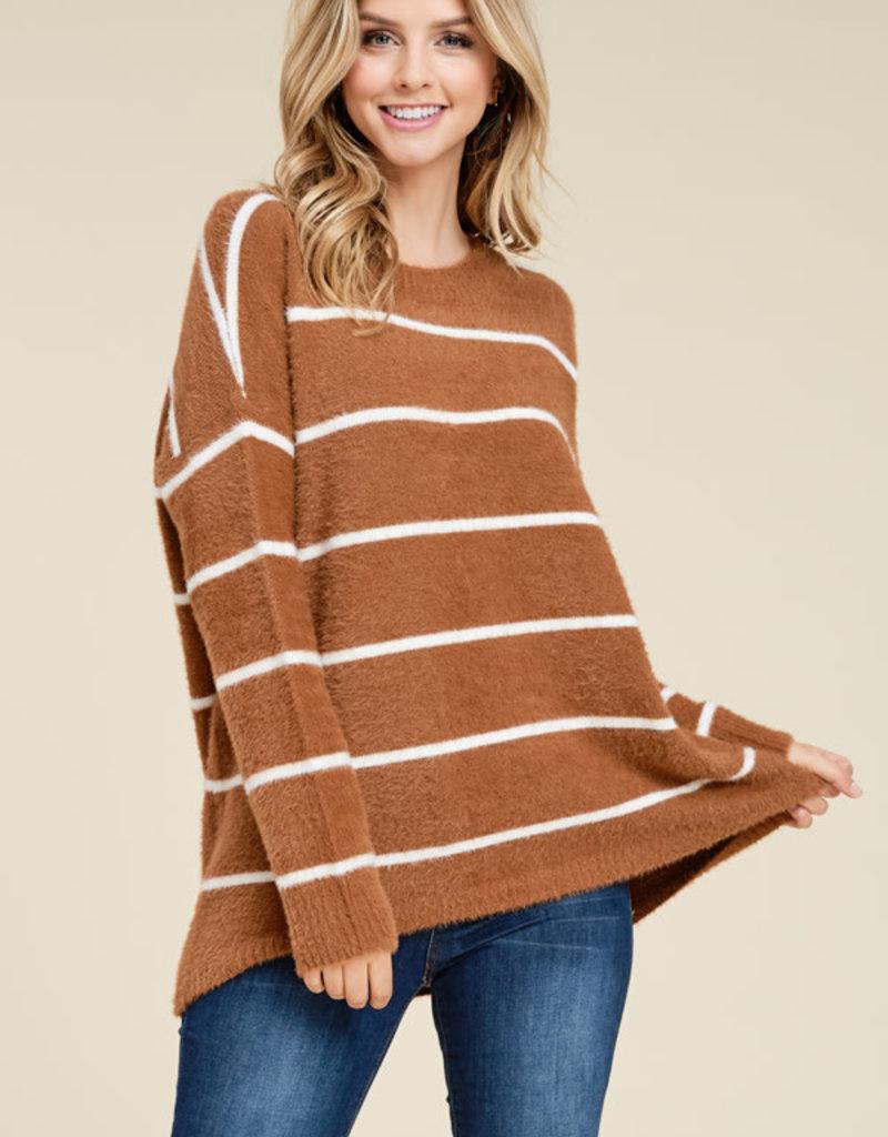 Fuzzy Stripe Sweater