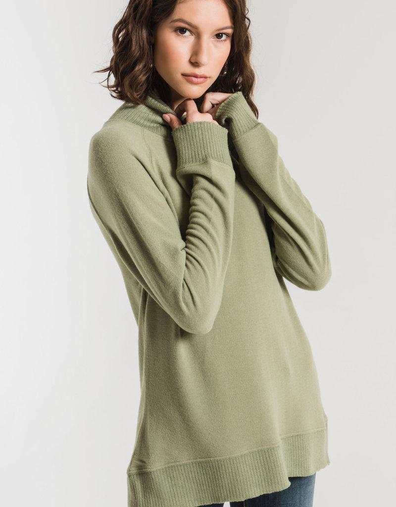 Z Supply Soft Spun Mock Neck Pullover