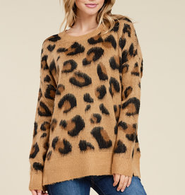 Staccato Brushed Leopard Crew Sweater