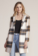 Cupcakes and Cashmere Cher Plaid Jacket Ivory