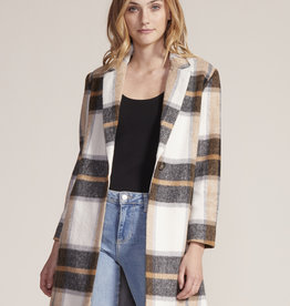 Cher Plaid Jacket Ivory
