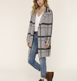 Ezra Sweater Coat Heather Grey