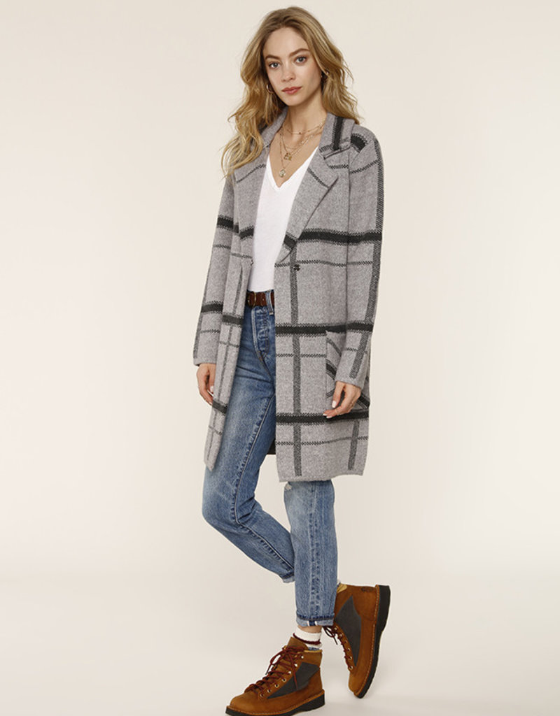 Ezra Sweater Coat Heather Grey