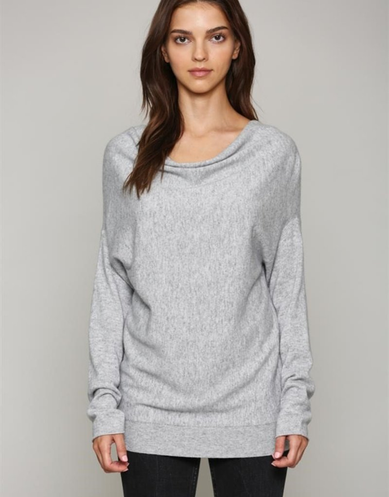Fate Cowl Neck Sweater Grey