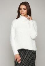 Fate Fuzzy Turtleneck Sweater Cream