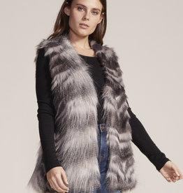 Vivianna Fur Vest Grey