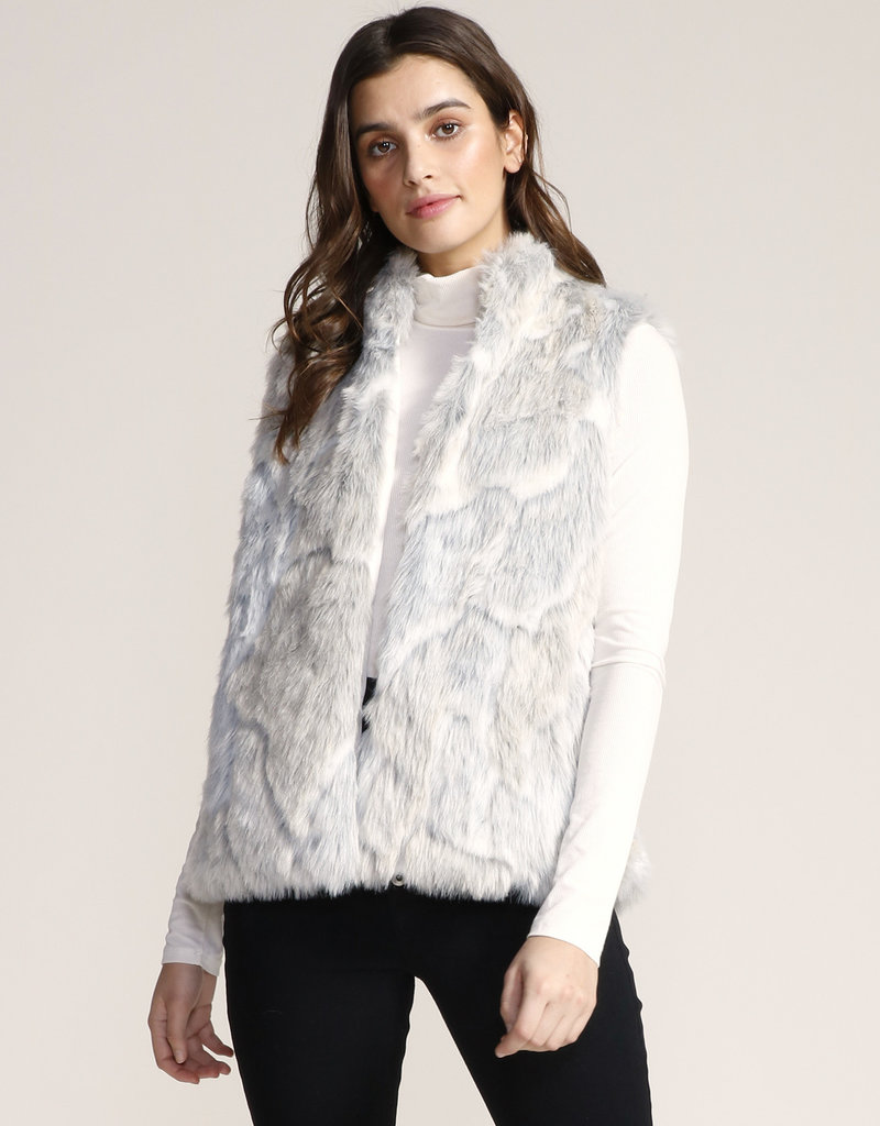 In A Furry Vest Ivory