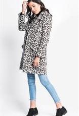 Pink Martini Hadley Leopard Coat Grey
