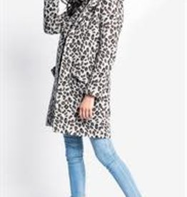 Pink Martini Hadley Leopard Coat Grey