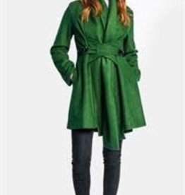 Pink Martini Natalia Cross Front Coat Green