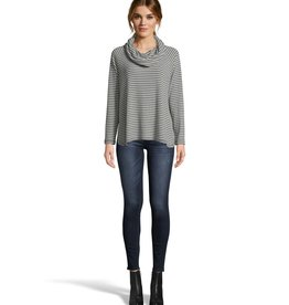 Jack Line It Up Stripe Top Charcoal