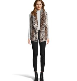 Jack Purr Usual Leopard Fur Vest