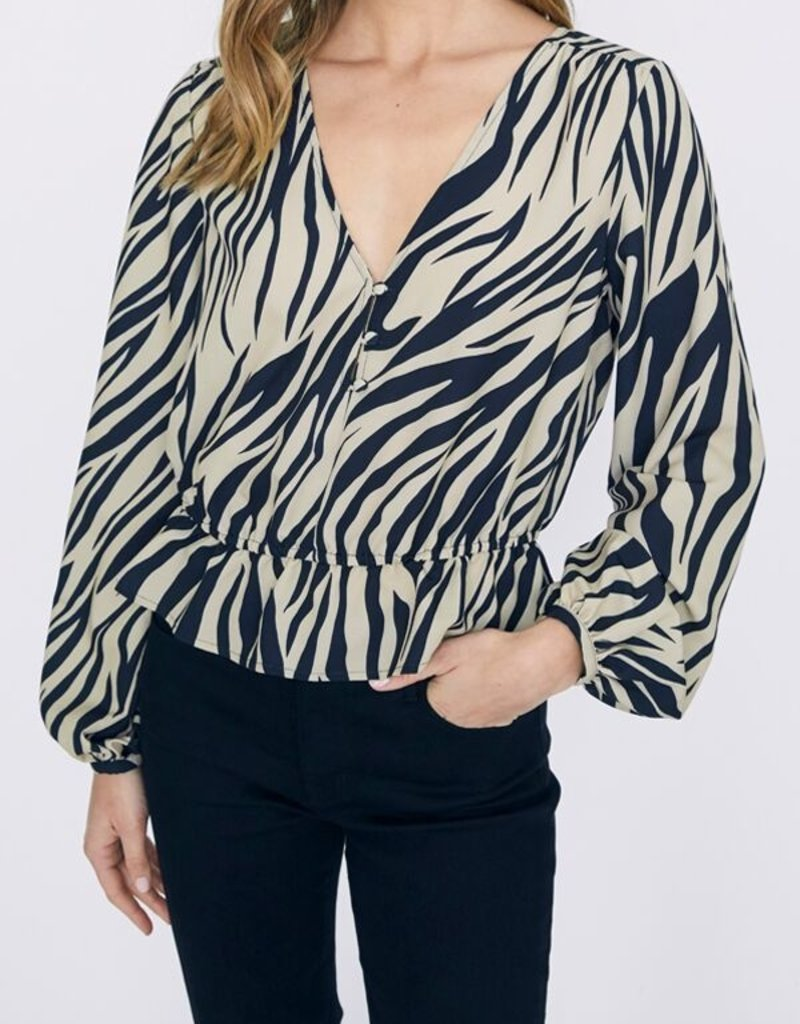 All Nighter Blouse Zebra