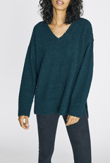 Sanctuary V-Neck Teddy Sweater Jade