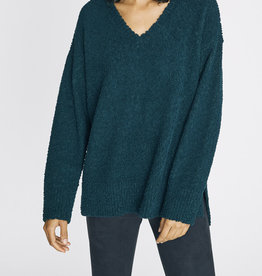 Sanctuary V-Neck Teddy Sweater Jade