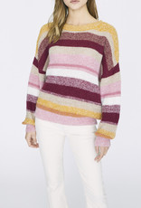 Sanctuary Blur The Lines Striped Sweater Garnet