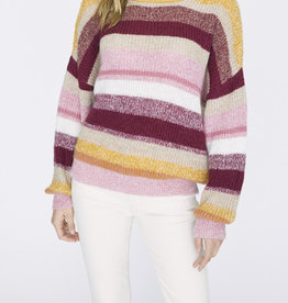 Sanctuary Blur The Lines Striped Sweater Garnet