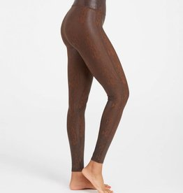 Spanx Faux Leather Snakeskin Brown