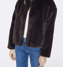 Starry Night Faux Fur Jacket