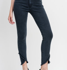 Just Black Denim Skinny w/ Cross Fray Hem