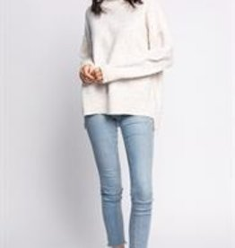 Pink Martini Turtle Neck Speckle Sweater Beige