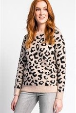 Pink Martini Animal Print Sweater Beige