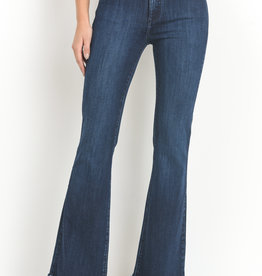 Just Black Denim HR Frayed Hem Flare